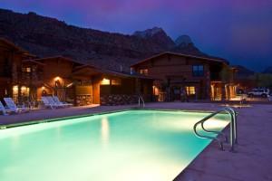 Heated pool in springdale
