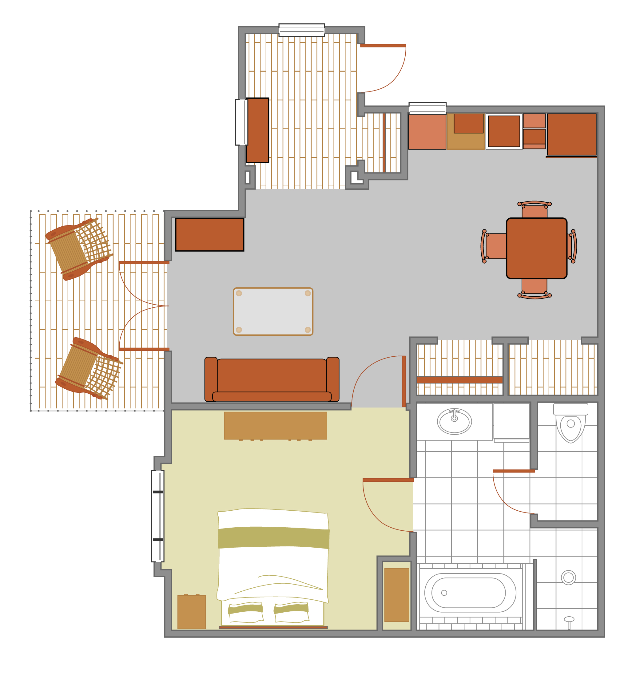 Judy Ann Suites Floorplan at Cable Mountain Lodge