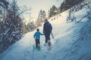 Enjoy Snowshoeing as a winter activity at Zion National Park.