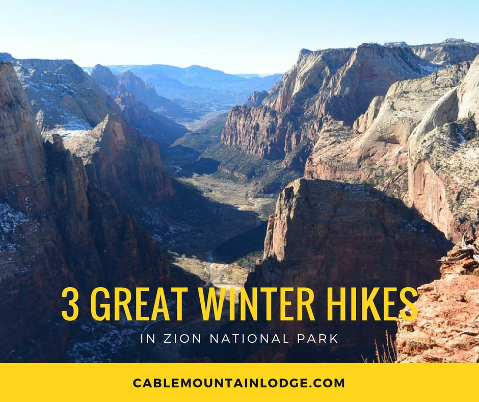 winter hikes in zion