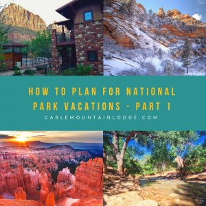hotels in zion park cable