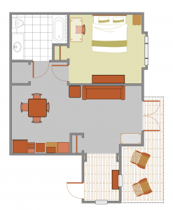 Luxury Classic Suites Floorplan at Cable Mountain Lodge